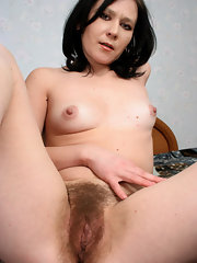 Important Naked in bed brunette hairy pussy