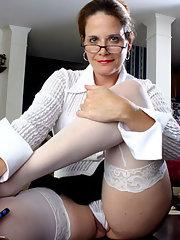 Older women wearing stockings