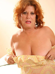 Busty mature redhead nude women excited